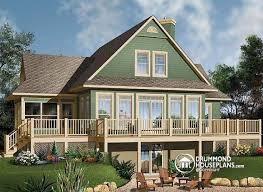 house plans with rear view house plan w3914a detail from drummondhouseplans com