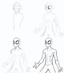 drawing spiderman step step desenhos spiderman