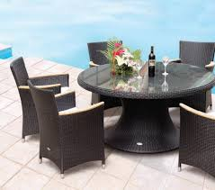 Wicker Patio Dining Set - royal teak helena 60 in all weather wicker round dining table