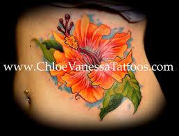 orange hibiscus flower for tattoomagz