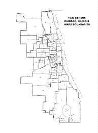 City Of Chicago Ward Map by Chicago Ward Map Circa 1917