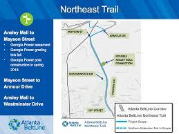 Atlanta Beltline Map Plans For Atlanta Beltline Northeast Trail Presented At Meeting