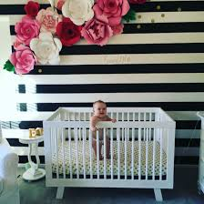 Kate Spade Wall Decor by A Soft And Sweet Nursery With Paper Flowers Dear Lillie Paper