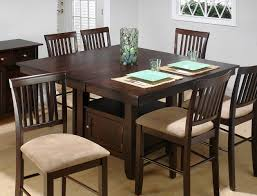Espresso Dining Room Furniture Dining Room Large Square Wood Butterfly Leaf Table In Espresso