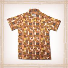atomic tiki retro hawaiian shirt rust atomic retro rust