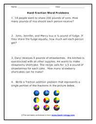 printables fractions word problems worksheets ronleyba