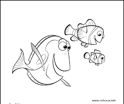 varios peces finding nemo printable coloring pages kids