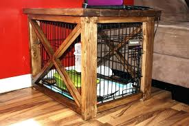 dog kennel side table diy dog crate table image of dog crate furniture diy dog crate side