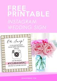 wedding signs template free printable instagram wedding sign bumps and bottles