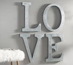 Decorative Letters For Walls Hanging Galvanized Letters Wall Art Pottery Barn