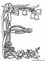 coloriages alphabet fleurs 05