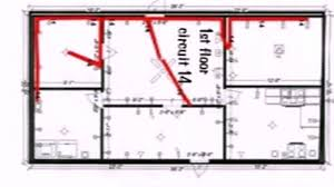floor plan with electrical wiring youtube