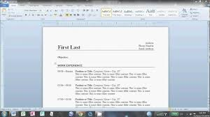 How To Email A Resume Sample by How To Create A Resume On Microsoft Word 2010 Resume Examples 2017