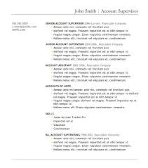 A Resume Template On Word 7 Free Resume Templates Primer