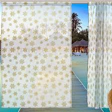 Window Sheer Curtains Alaza Window Sheer Curtain Panels Decoration Golden Gold