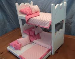 Dolls Bunk Beds Uk American Doll Bed Etsy