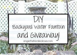 diy backyard water fountain hometalk