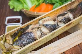 fish cuisine ปลาช อนลอดถ ำ ร านกระบอกแก ว fish inside bamboo กร งเทพมหานคร