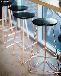 Black Bar Stool Rose Gold And Black Bar Stools Ff U0026e For Interior Pinterest
