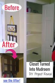 closet mudroom turn a closet into a mini mudroom pinteresting