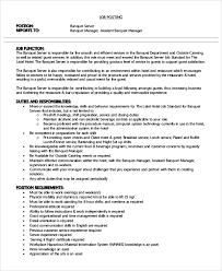 Catering Job Description For Resume Banquet Server Description For Resume 28 Images Banquet Server