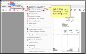 redacting by drawing areas with autoredact plug in for adobe