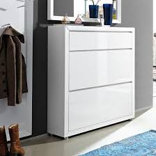 shoe cabinet with drawer fino shoe cabinet in white gloss with 1 drawer and 2 doors