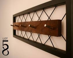 walnut coat rack etsy