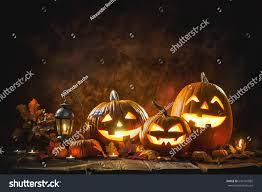 halloween pumpkin head jack lantern burning stock photo 643141885