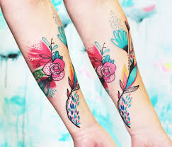 the 25 best abstract flower tattoos ideas on pinterest