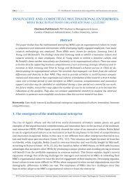 Universities As Multinational Enterprises The Multinational Innovative And Competitive Multinational Pdf Available