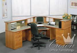 How To Make A Reception Desk Transitional Reception Crown Office Furniture Tulsa Oklahoma
