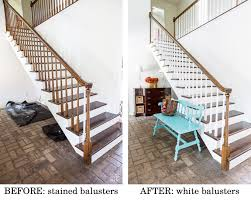 Stairway Banisters And Railings Painting Staircase Balusters Without Losing Your Mind In My Own
