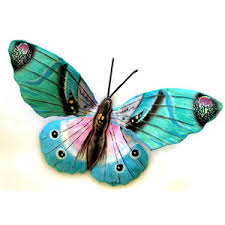 colorful butterfly wall painted metal wall hangings