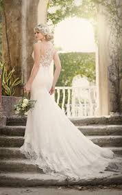 wedding dresses designers wedding dresses vintage fit and flare wedding dress with