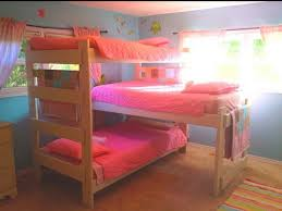 girls triple bunk beds triple bunk bed plans loft beds and bunk