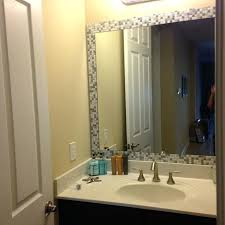 Frame Existing Bathroom Mirror How To Add A Frame To A Bathroom Mirror How To Add Molding To A