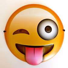 emoji mask tongue out emoji mask smiley smile party novelty
