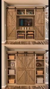 Tv Cabinet Doors Made Rustic Custom Media Cabinet With Barn Doors