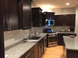 Kitchen Design Pictures Dark Cabinets Dark Cabinets Kraft Maid Subway Tile Azul Platino Granite 2016