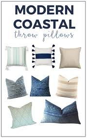 Decorative Pillows Modern Chic And Modern Coastal Throw Pillows And Where To Buy Them