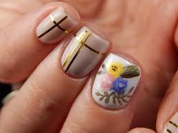 floral gel manicure nails by latoya