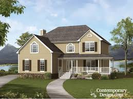 farmhouse wrap around porch style house with wrap around porch