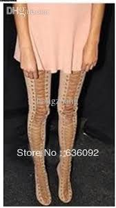 womens high heel boots size 12 wholesale fashion thigh high boots criss cross lace up