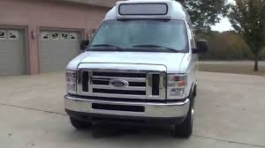 hd video 2012 ford e250 extended 12 passenger high top van used