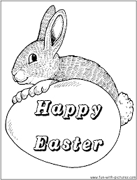printable cute easter bunny coloring pages color pictures