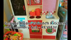 george home wooden kitchen and laundry set review youtube