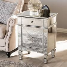 Silver Nightstand Ls Glass Nightstands Bedside Tables For Less Overstock