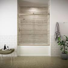 tub with glass door kohler levity 59 in x 62 in semi frameless sliding tub door in