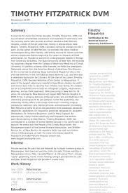 cv format for veterinary doctor veterinarian resume sles visualcv resume sles database